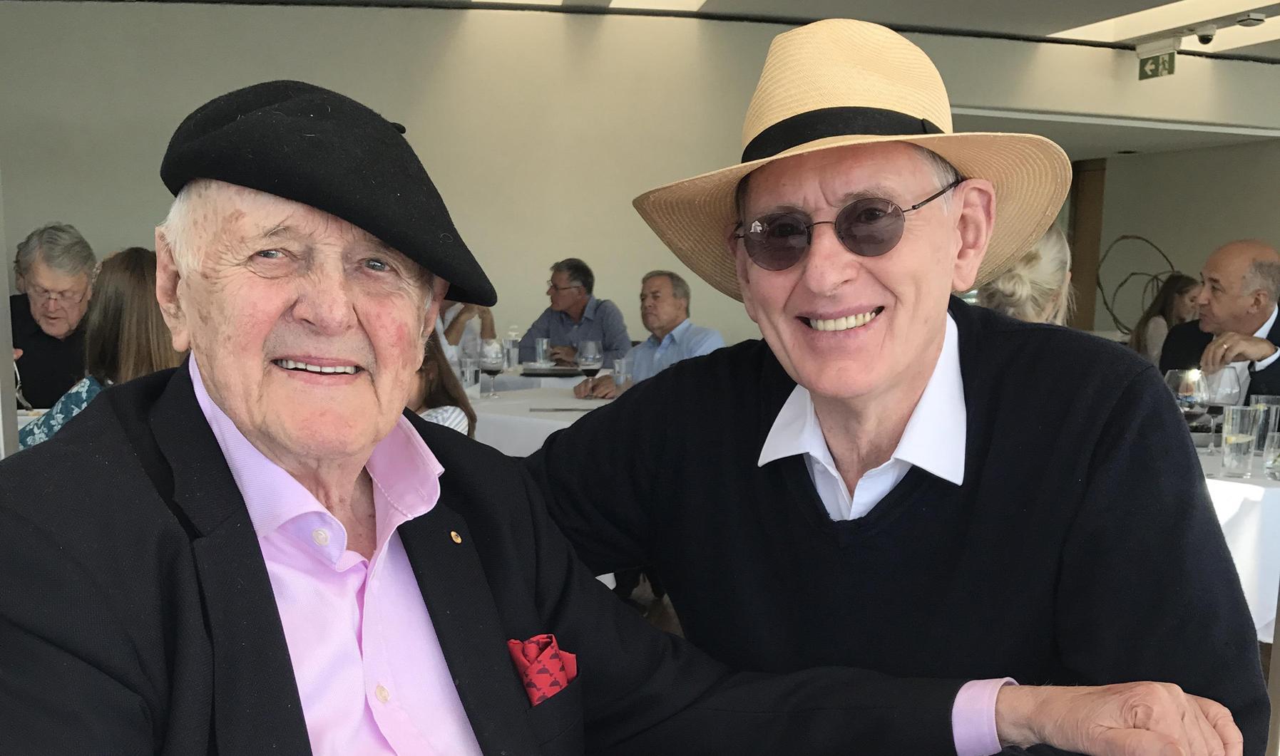 Ross with Archibald Prize winning Australian artist John Olsen
